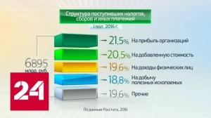 Сколько налогов в бюджет РФ поступает от россиян