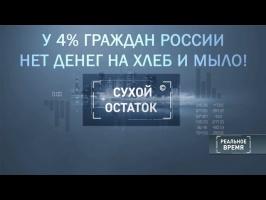 Обнищание Россиян. 4% граждан не может купить хлеб и мыло
