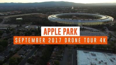 APPLE PARK: Сентябрь 2017 года. Видео 4K